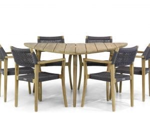 Lifestyle Dallas/Julia 155 cm triangel dining tuinset 7-delig